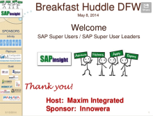 SAP Super Users DFW Huddle