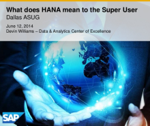 SAP HANA Mean to Super User