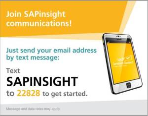 Text SAPinsight to 22828 to join